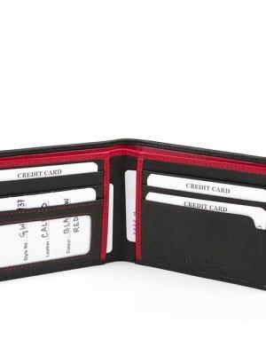 Ανδρικό Πορτοφόλι από Γνήσιο Φυσικό Δέρμα Εξαιρετικής Ποιότητας Fetiche AN 9-937 Μαύρο
