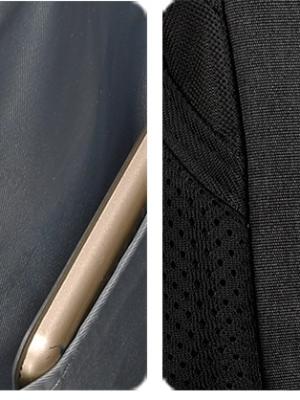 Ανδρικό Σακίδιο Πλάτης Μεγάλης Χωρητικότητας με Πολλές Τσέπες και Θήκες με Φερμουάρ Tigernu T-B3399 Μαύρο