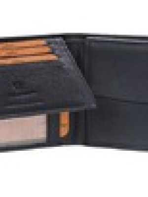 Ανδρικό Δερμάτινο Πορτοφόλι σε Μοντέρνο Σχέδιο Μαύρο Χρώμα