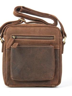 Ανδρικό Τσαντάκι απο Γνήσιο Δέρμα με Χωρητικότητα για tablet  έως 8″ Χρώμα Ταμπά FETICHE SAK-1507